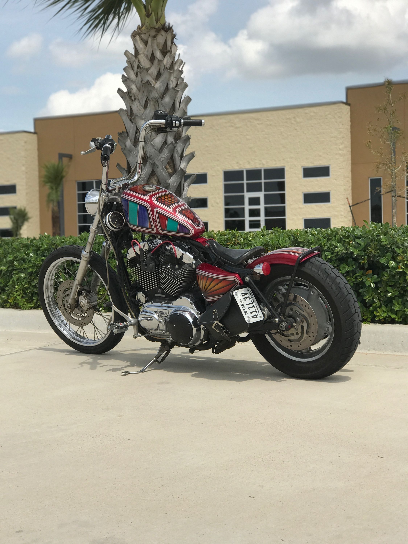 2009 Harley Davidson sportster 1200 kustom custom hardtail struts ...