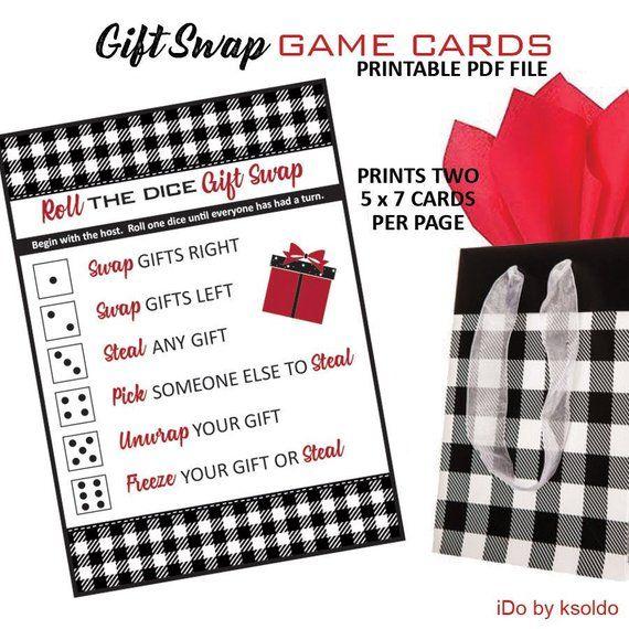 Buffalo Plaid Gift Exchange Game Christmas Ornament