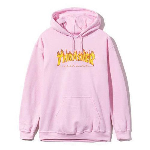Thrasher Hoodie Pink Hooded Cotton Hoodies Men Women Hip Hop Brand Trasher Hoodie  Thrasher Skateboard Sweatshirts Men SMR0801-5 ee3541bc7c