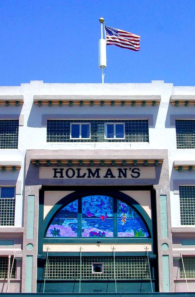 Holman's Department Store butterfly window, Pacific Grove