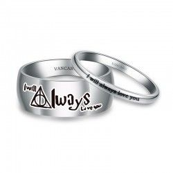 Inspired His and Her Ring with ' I Will Always Love You ' Engraved