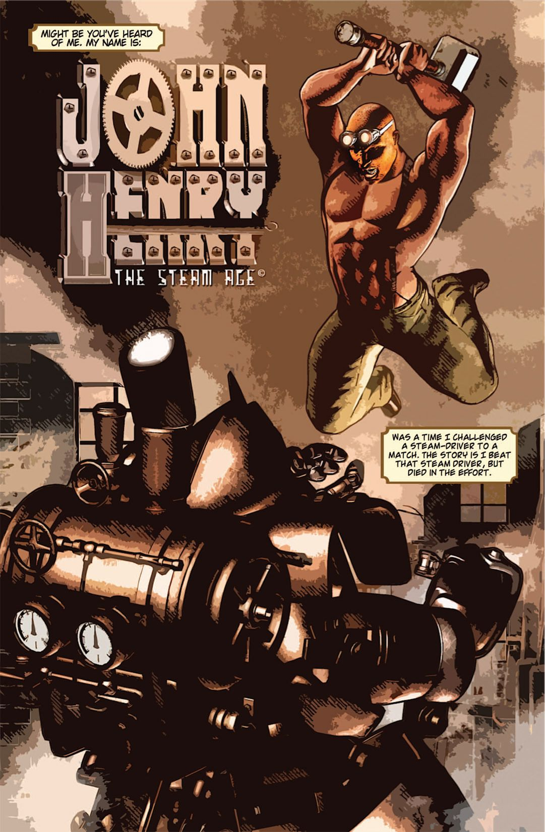 John Henry Comic Book Style