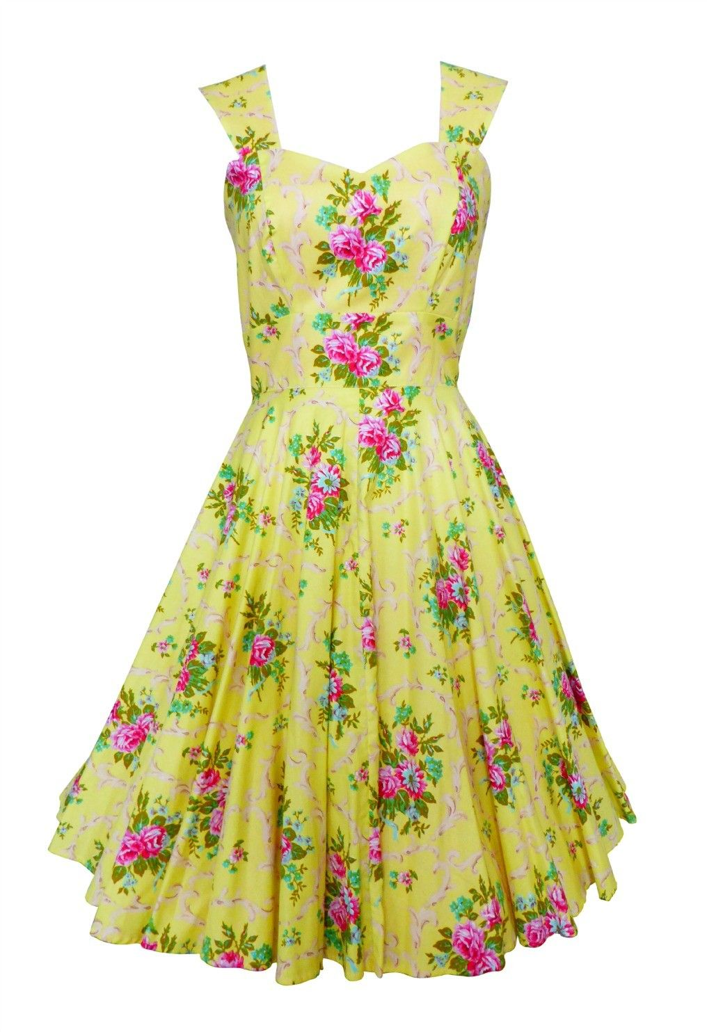 Yellow Floral 50s Dress Vintage Style Pigtails And Pirates Jurk Geel Bloemen Print 1950s Style Sweet Melody Yel Vintage Dresses 50s Dresses 50s Dresses [ 1484 x 1016 Pixel ]
