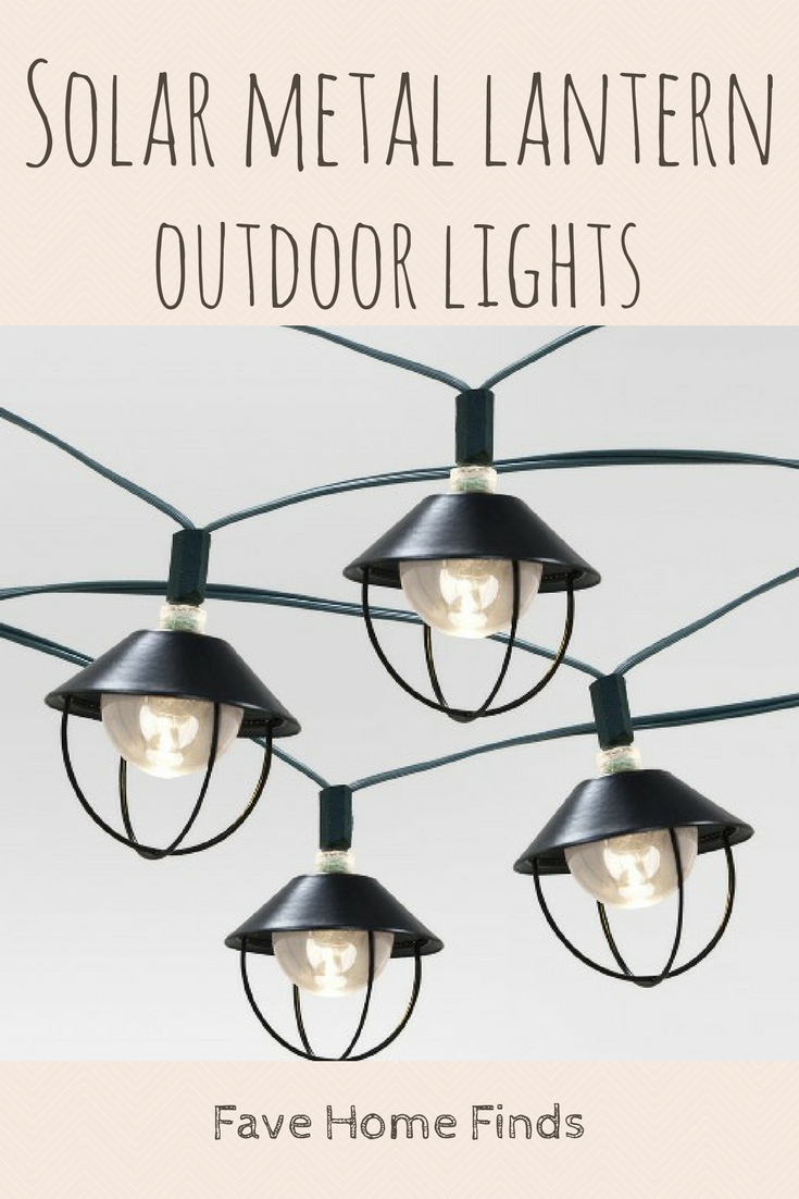 Target Solar String Lights Solar Metal Lantern String Lights From Targetgreat For Creating An