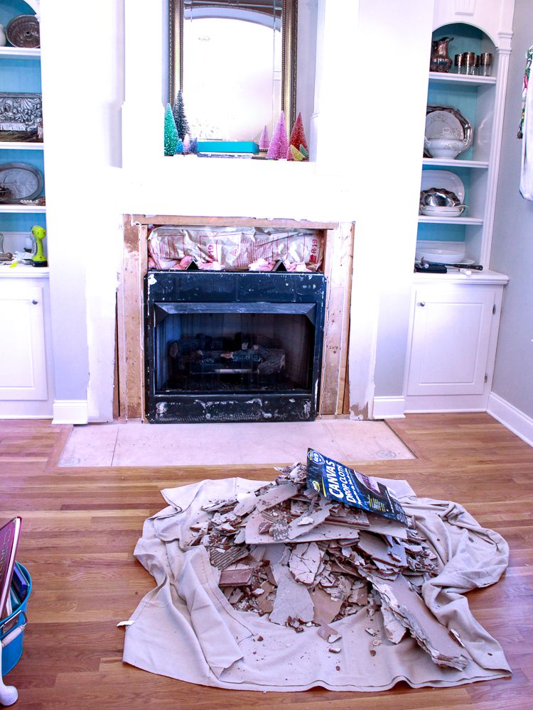 How to remove fireplace tiles craftsman fireplace