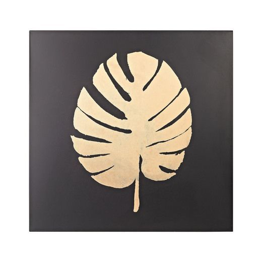 Metallic Palm Frond on Black   Products   Pinterest   Palm fronds