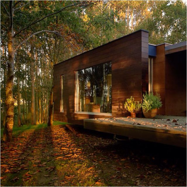 Modern Forest House: Levitating Modern House Deep In The Forest