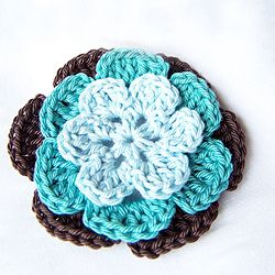 Adorable crochet applique flowers by our team member. Check out the inspirational story from Lena!