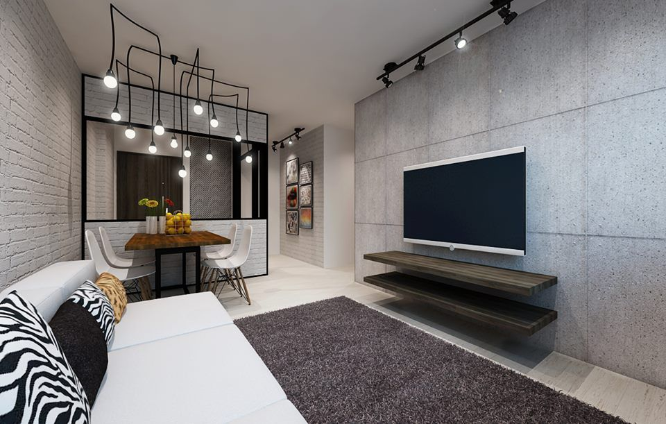 Hdb 4 room bto blk 432c yishun interiordesignsingapore for Feature wall ideas living room tv