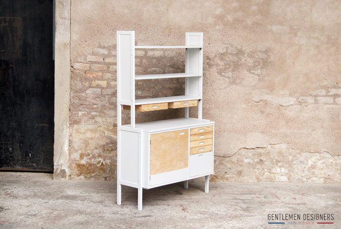 gentlemen designers mobilier vintage made in france meuble de rangement vintage r nov gris. Black Bedroom Furniture Sets. Home Design Ideas