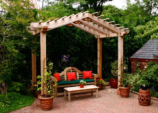 Asian style pergola this asian style pergola was for Japanese garden structures
