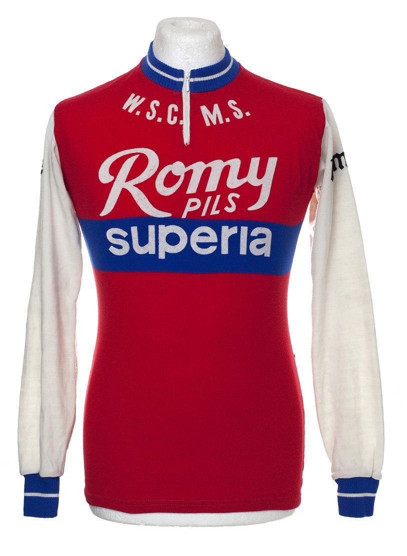 ROMY PILS SUPERIA LS VINTAGE RETRO CYCLING JERSEY EROICA MAILLOT CYCLISTE  584c54324