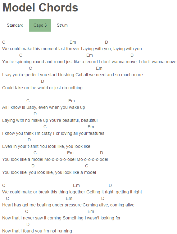 Model Chords Before You Exit Music Pinterest Guitar Chords