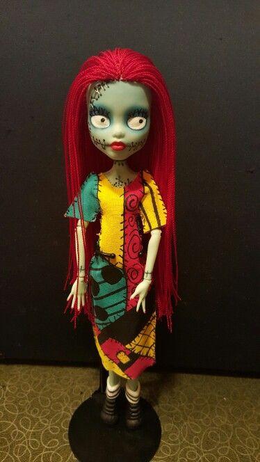 ooak monster high nightmare before christmas sally doll 5 - Nightmare Before Christmas Sally Doll