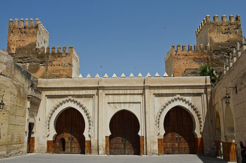 Morocco architecture popular with structure of the doors in dome shape.
