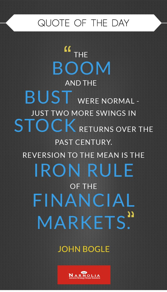 Quote Of The Day The Boom And The Bust Were Normal Just Two More
