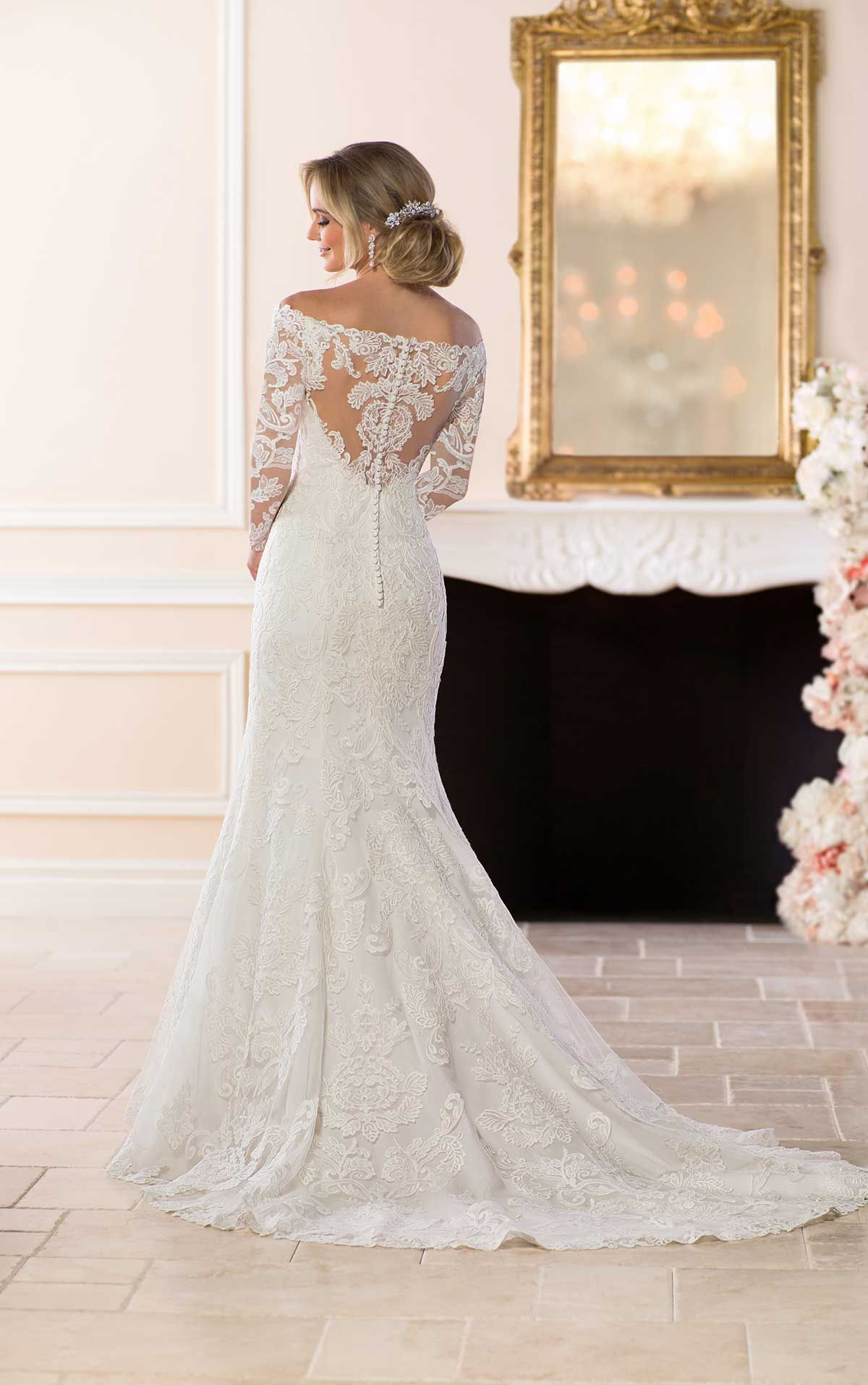 OfftheShoulder Lace Wedding Dress Wedding dress styles