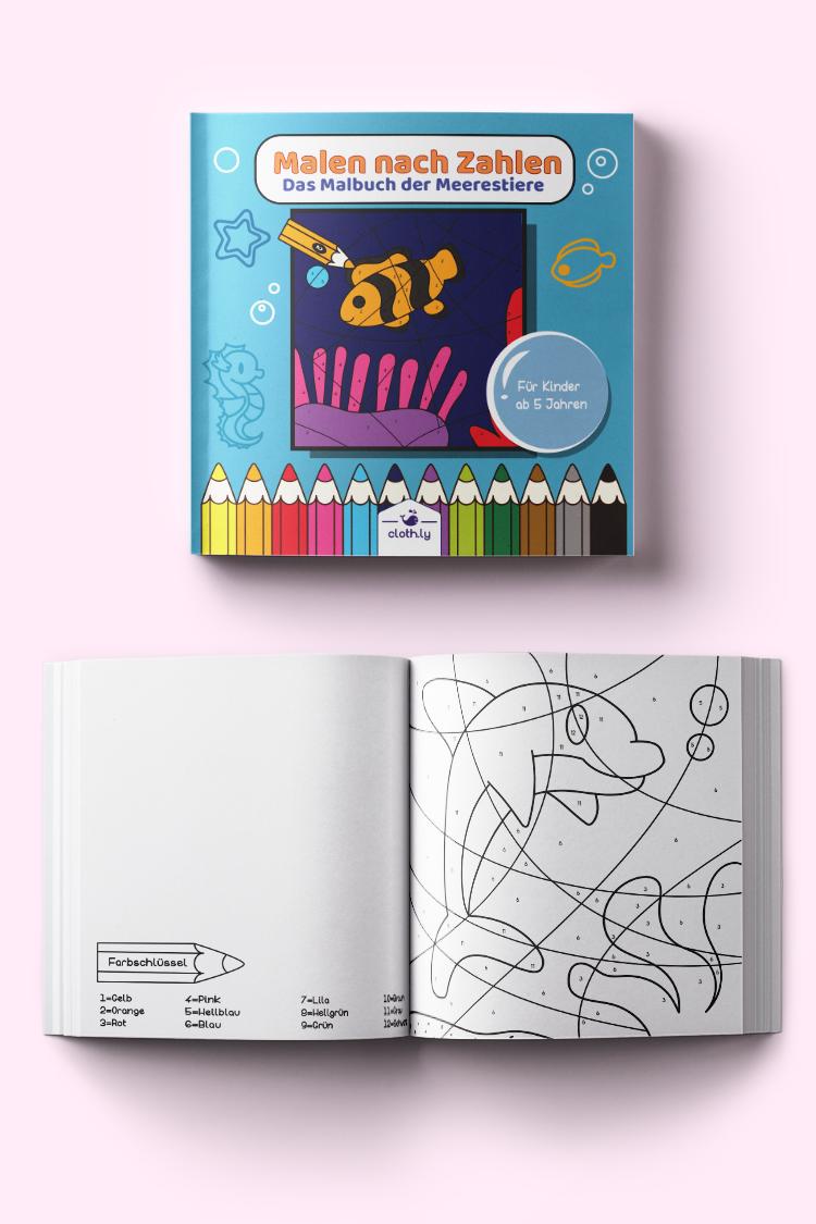 Malen Nach Zahlen Das Malbuch Der Meerestiere Fur Kinder Ab 5 Jahren Unterwasserwelt Kinder Malbuch Wenn Du Mal Buch Malen Nach Zahlen
