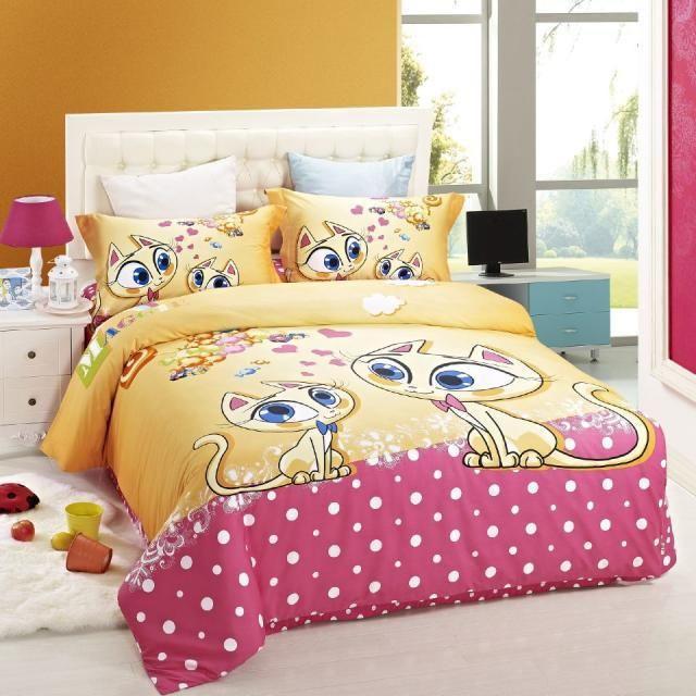 Cat Bed Sheets | Popular Cat Print Bedding Set Children Buy Popular Cat  Printu2026