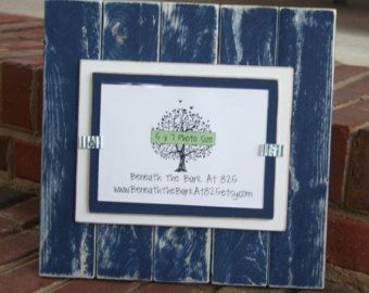 Inspirational Navy Blue Wood Picture Frames