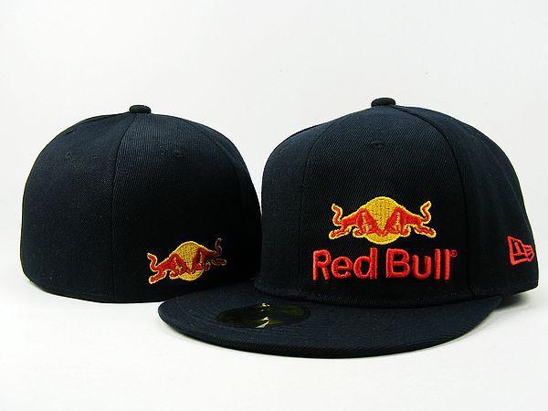 New Era Red Bull Snapback Hats Cap Black | Red Bull Snapback