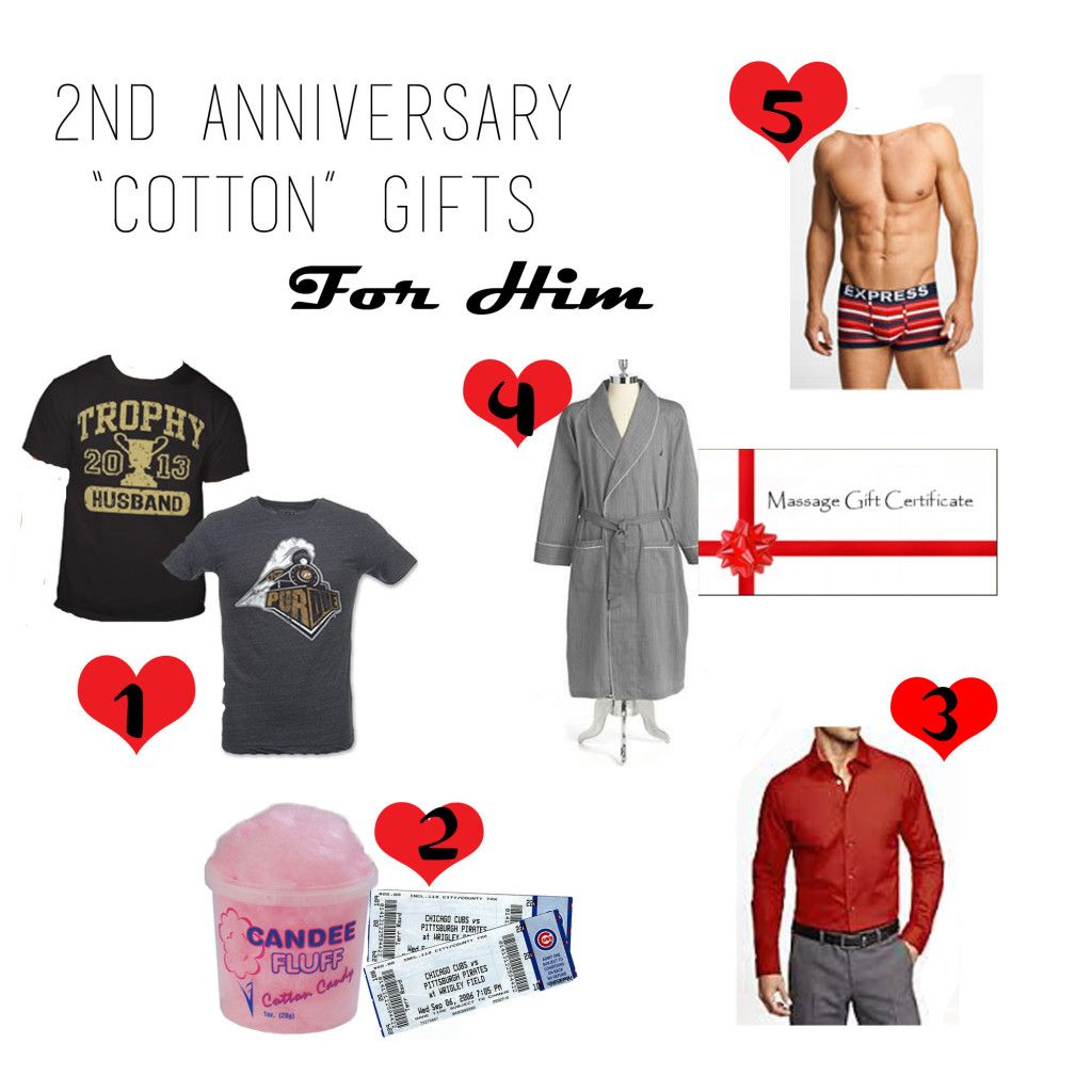 2nd Anniversary Cotton Gift Guide For Him Love The Candy