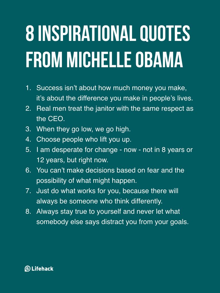 Inspirational Proverbs 8 Inspirational Quotes From Michelle Obama  Life Lessons