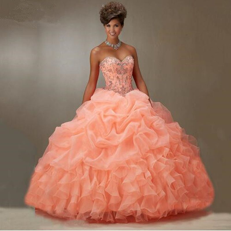 Coral colored quince dresses blue