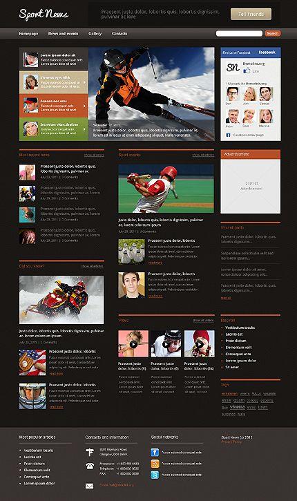 Wordpress #SportsNews theme. $68 | Wordpress | Pinterest | Wordpress