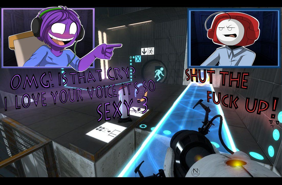 Purple Pie and Phone Cry Х3 Game: Portal 2 Hope you like it