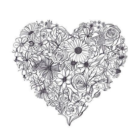 Printable Coloriages Cœur Pinterest Coloriage Coeur