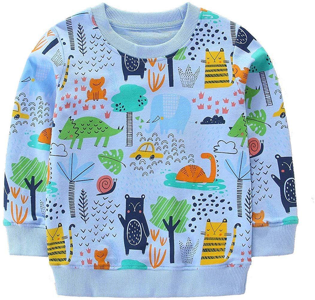 Hongshilian Unisex Kids Cute Cartoon Cotton Sweater Shirt