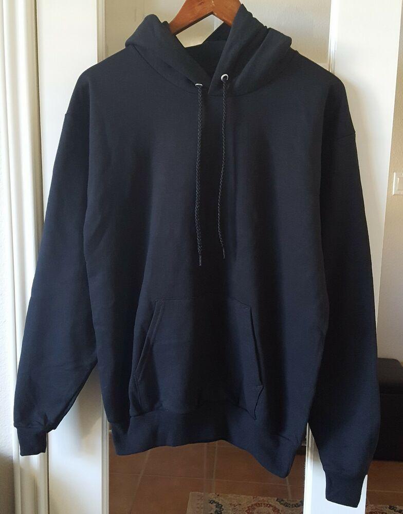 Hanes Comfort Blend EcoSmart Black Pullover Sweatshirt