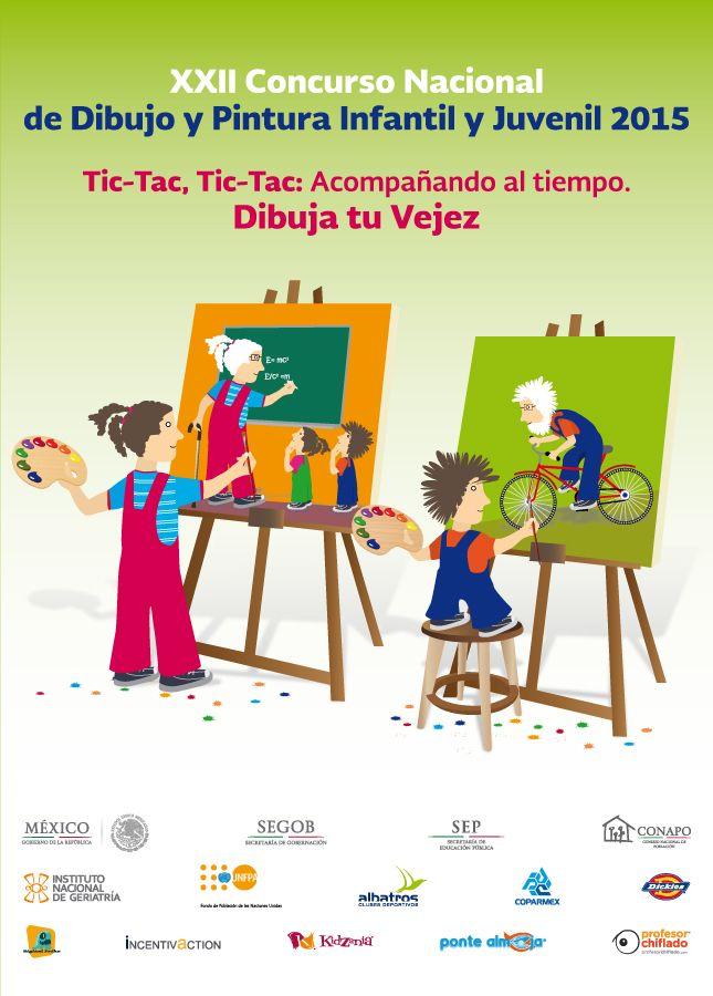 Xxii Concurso Nacional De Dibujo Y Pintura Infantil Y Juvenil 2015 Consejo Nacional De Poblacion Conapo Pinturas Infantiles Concursos Juveniles