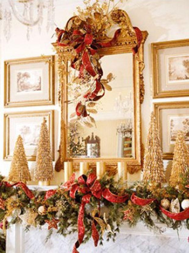 Fireplace Christmas Decorations Part - 33: Christmas Fireplace Mantels