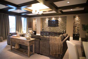 Sectional Den Decorating Ideas Contemporary Home Cozy Den Design