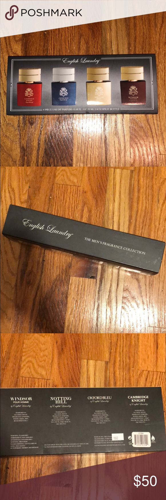 Nib English Laundry Men S Perfume Set Includes 4 Fragrances