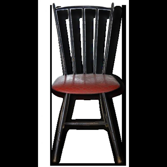 chaises anne 50 skai rouge fer vintage style bois tourne cuisine chambre vendu par les trouvailles - Chaise Annee 50