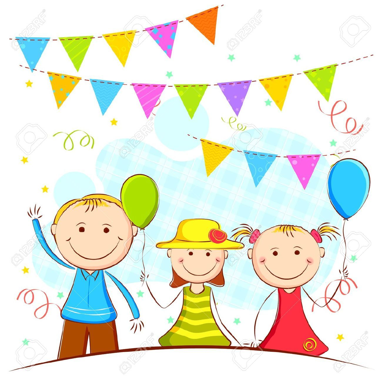 Kids Party Clipart