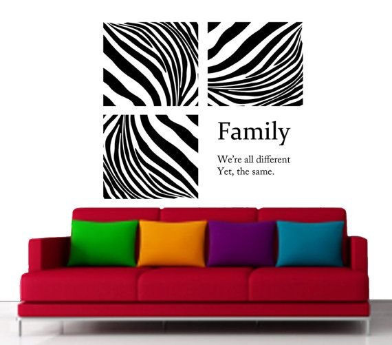 Family Are Like Zebra Quotes Zebra Stripe Wall Art Decal - Zebra stripe wall decals