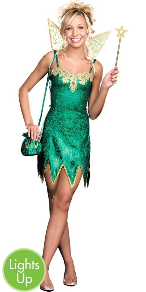 Pretty Pixie Light-Up Fairy Costume for Teens - Party City Cute - halloween teen costume ideas