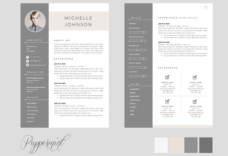 2 Page Cv Template Free 2-Cv Template Resume templates, Sample