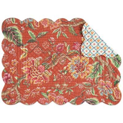 Adele Reversible Quilted Placemat - BedBathandBeyond.com | placemats ...