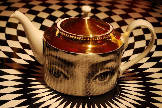 Fornasetti and Cavalieri teapot
