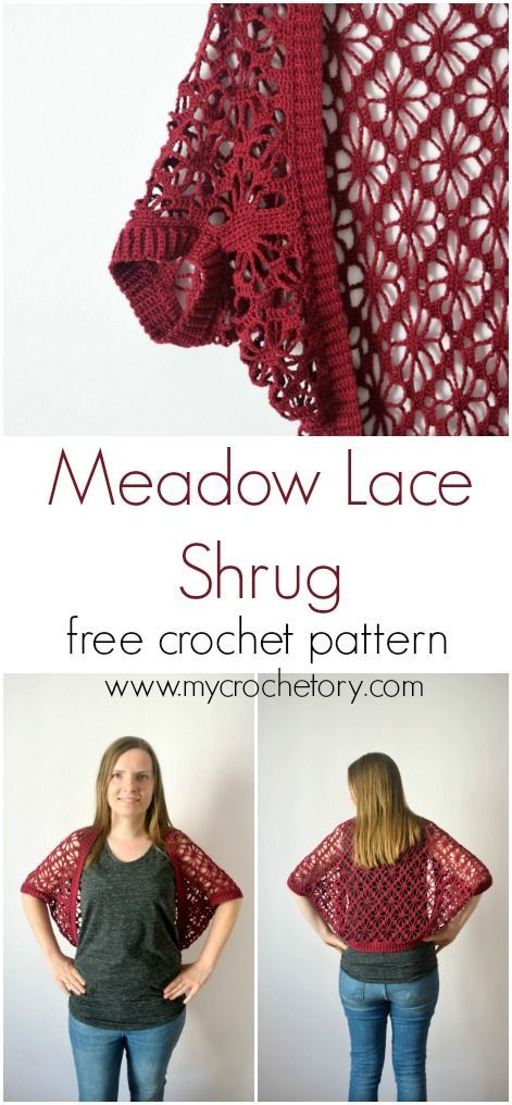 Meadow Lace Shrug free crochet pattern | Crochet | Pinterest