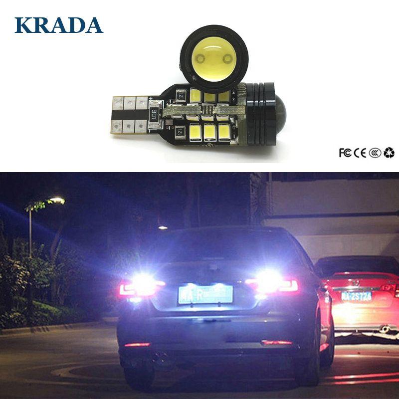 Krada 2pcs Car T15 W16w Reverse Led Auto Canbus White Lights Bulb Lamp 12v For Volkswagen Vw Passat B7 Nissan Juke Bmw E60 Vw Passat Light Bulb Lamp Car Lights