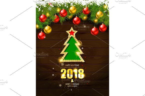 Merry Christmas Poster Template By Aromeo On Creativemarket