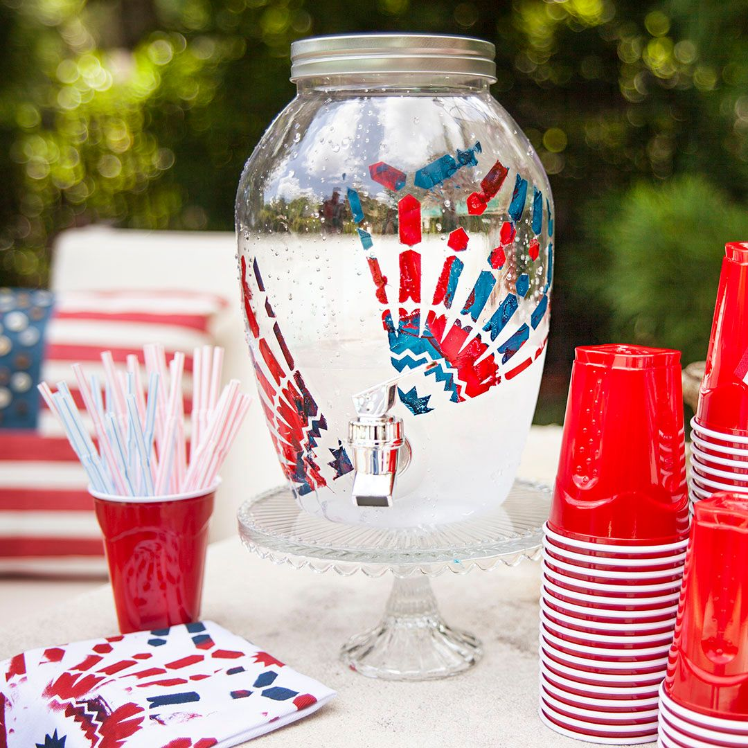 Check this DIY drink dispenser all decked out for the