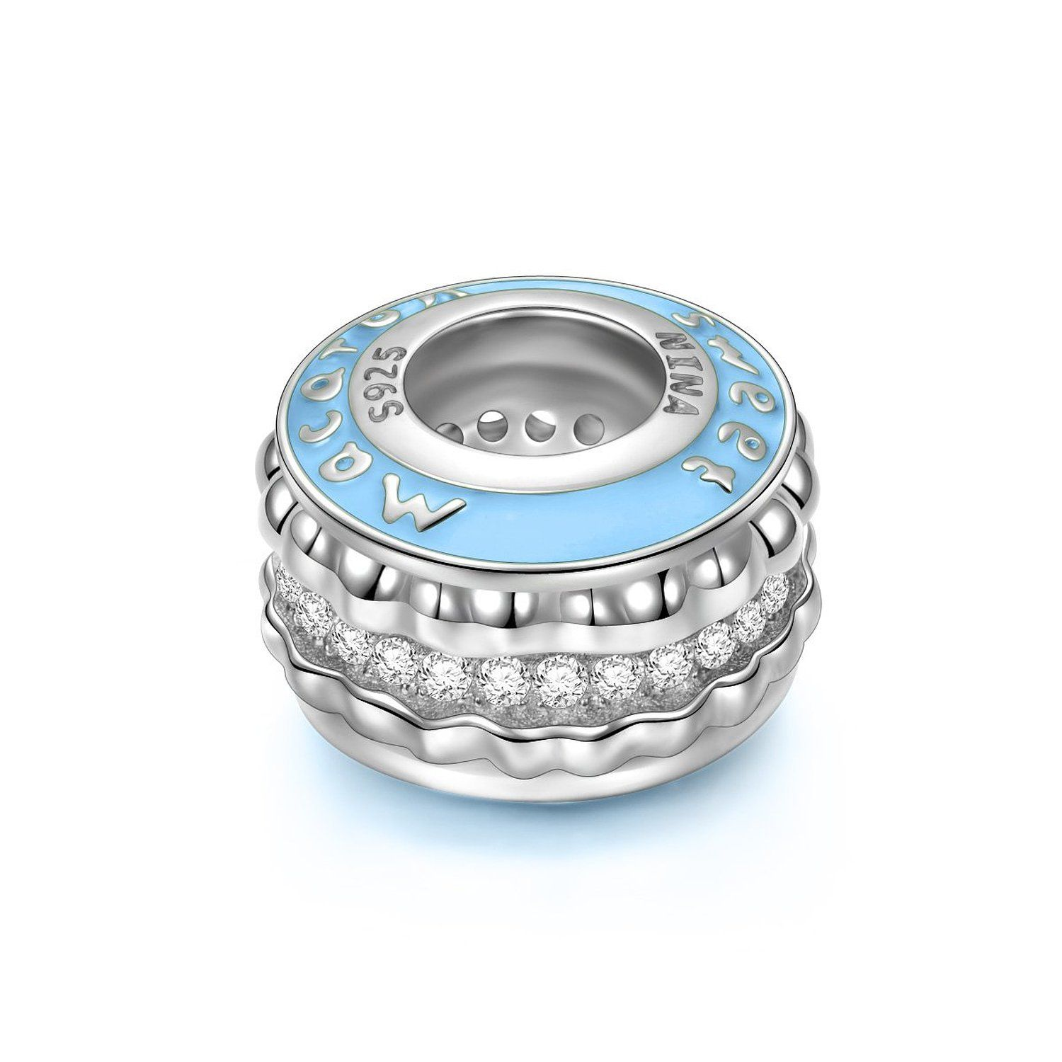Ninaqueen french macaron sterling silver charms fits pandora