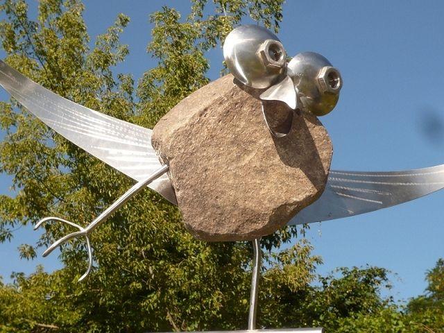 Design f r geniesser kunst aus stein und metall achim for Gartendeko aus stein und metall